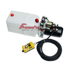 New Double Acting Hydraulic Pump 12v Dump Trailer - 6 Quart 12 Volt