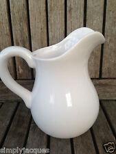 White Pottery Ceramic Jug, Flower Display Pitcher, Home , Wedding