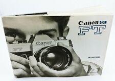 Original Instruction Manual  for CANON QL FT film CAMERA