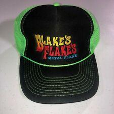 Blakes Flakes Metal Flake Trucker Hat Cap 2-tone foam mesh Green