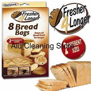 Pack Of 8 Sealapack Bread Storage Bag Breadbags Keeps Fresh Longer