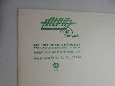 Vintage 1970s Unused ALPA Envelope Air Line Pilots Assoc Stewardess Estate