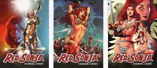 Red Sonja 3 PROMO CARD SET 3 cards promos Breygent 2011