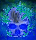 Levitated Skull 420 - Digital NFT Art Card - Mint #388/1000 RARE!!!