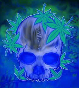 Levitated Skull 420 - Digital NFT Art Card - Mint #29 RARE!!!