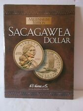 Millennium Edition Sacagawea Dollar Coin Folder Book H. E. Harris & Co. 10""