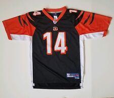 Cincinnati Bengals Andy Dalton #14 NFL On Field Stitched Jersey Youth Sz L 14-16