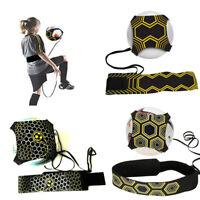 Football Kick Trainer Skill Soccer Training Equipment Adjustable Waist Belt BJ