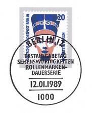 Berlin 1989: Nofretete Berlin Nr 831 mit sauberem Ersttags-Sonderstempel! 1A 154