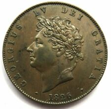 More details for 1826 king george iv halfpenny coin - higher grade - great britain