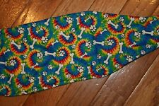Male dog diaper-belly band-wrap-quilted- TIE DYE BONES-PAWS by angelpuppi