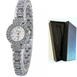 Designer Style Watch Girls Ladies Women's Bling Party/Dress Bracelet With Box