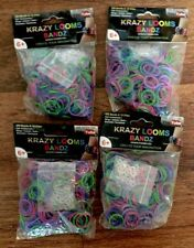 Krazy Looms Bandz 300 ct. LOT of 4 1200 Total Rainbow Colors NEW