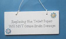 Replacing the Toilet Paper Plaque - Toilet Humour - Bathroom Decor