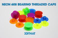 Neon Fidget Spinner Threaded CAPS 608 Bearing DIY Choose Your Color!