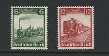 Germany 1935  #459-60   trains railroads locomotives SHORT-SET  2v. MNH  K793