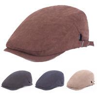 Men's Cotton Golf Driving Beret Cabbie Newsboy Hat Adjustable Flat Ivy Sun Cap