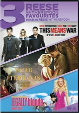 WATER FOR ELEPHANTS + THIS MEANS WAR + LEGALLY BLONDE (WITHERSPOON)*NEW DVD SET*