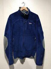 Vintage PATAGONIA R4 Regulator Fleece Jacket Blue Gray Men's Large POLARTEC 2008
