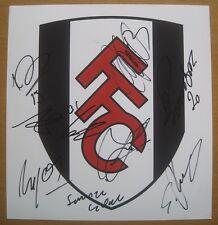 2012-13 Fulham equipo Crest Multi Firmado (3634)