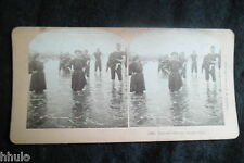 STB481 Atlantic City Bain de pieds stereoview photo STEREO albumen