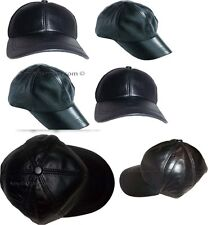6 New Leather Baseball cap woman/man's Leather Hat Head wear  wholesale price bn