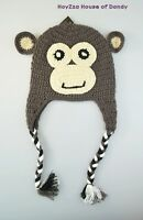 Winter Knit Handmade Animal Fleece Cap Ear Flap Beanie Trooper Hat - Adult Size