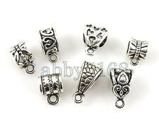 Free Ship 50 Tibetan Silver Mix Bails Beads Fit Charm Bracelet ZN07