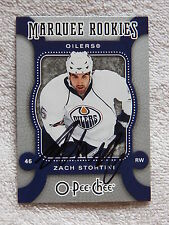 Edmonton Oilers Zack Stortini Signed 07/08 O-Pee-Chee Marquee Rookies Card Auto