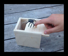 Hilarious! Original SPIDER SCARE BOX PRANK Funny Gag Scarebox Gift Amish Joke