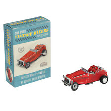 dotcomgiftshop MAKE YOUR OWN RED VINTAGE RACING CAR 3D PUZZLE WITH WIND UP MOTOR