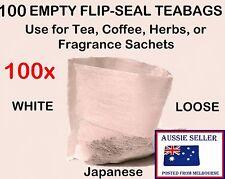100x FLIP-SEAL Tea Bags * Bath Bombs * Sachets * Potpourri * Fizzies Teabags zxv