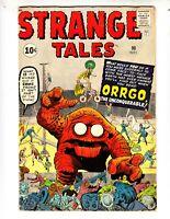 """Strange Tales 90 VGF (5.0) 11/61 Kirby/Ditko artwork! Atom Bomb Panel! """"Orrgo!"""""""
