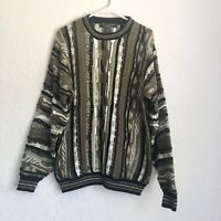 Vintage Protege Crewneck Grandpa Textured Sweater Cosby Coogi Style Large