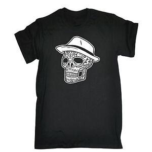 Fedora Skull T-SHIRT Skeleton Hat Cool Tee Top Funny Present birthday gift