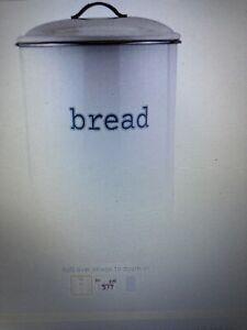 Round Cream Enamel Bread Bin
