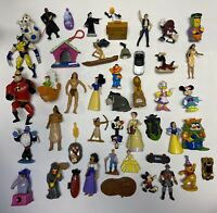 Lot of (45) Vintage Disney, McDonalds, Burger King character figurines toy lot