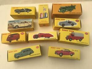 10 Dinky Atlas Models 25V 105 506 510 49D 413 260 24M 39A 23D Aston Martin Ford