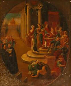 Antique 17th Century Oil on Canvas Painting Baroque Biblical Old Master Framed
