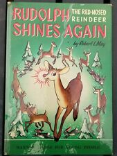Rudolph Red Nosed Reindeer Shines Again Robert May 1954 SIGNED 1st Edition SP25