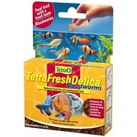 Tetra Fresh Delica Bloodworms 16x3g Freshwater Fish Food Aquarium Treats Gel