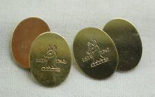 "Unusual Pair of 9ct Gold ""Whitbread"" Logo Cufflinks"