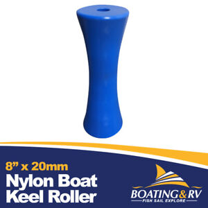 """Blue Nylon Concave Keel Hard Roller 