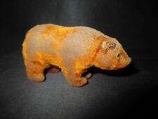 ancien jeu jouet ours en peluche miniature début XX ème