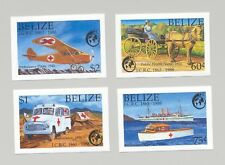 Belize #906-909 Red Cross, Horses, Ambulance, Aviation 4v Imperf Proofs