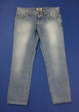 X cape jeans uomo usato W40 tg 54 slim boyfriend blu gamba dritta denim T4299