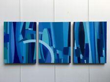 FOUGERAND.L _Tryptique 3 x ( 35 cm x 27 cm ) huiles sur toiles du 23/07/17
