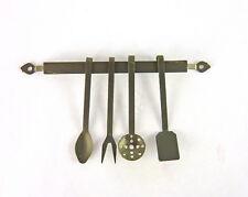 Dollhouse Miniature Metal Kitchen Utensils Set with Hanger, Fa70801