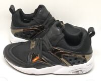 Black Puma Trinomic Size 6 Trainers Shoes VGC