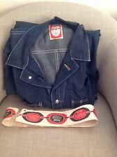 Vintage Lee Can't Bust 'Em Coveralls Denim Jean Workwear Sanforized Jumperalls